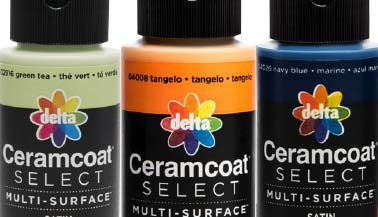 Delta Ceramcoat Select Multi-Surface Satin Acrylic Paint Color Chart