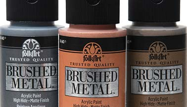 FolkArt Brushed Metal Paint Color Chart