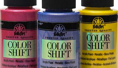 FolkArt Color Shift Metallic Paint Color Chart