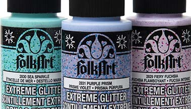 FolkArt Extreme Glitter Acrylic Paint Color Chart