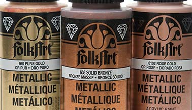 FolkArt Metallic Acrylic Paint Color Chart
