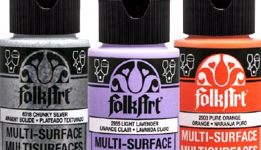 FolkArt Multi-Surface Satin Acrylic Paint Color Chart