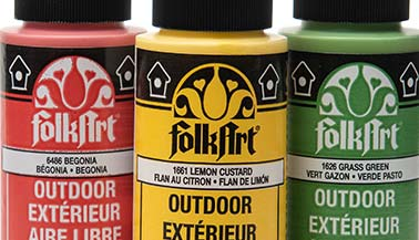 FolkArt Outdoor Gloss Acrylic Paint Color Chart