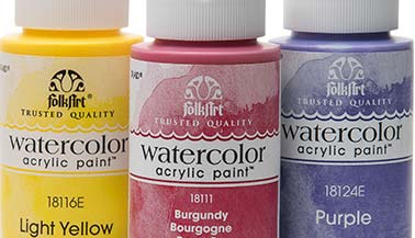 FolkArt Watercolor Acrylic Paint Color Chart