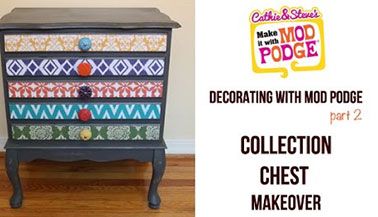 How to Decoupage Furniture with Mod Podge
