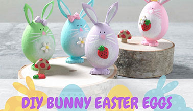 DIY Bunny Easter Eggs Craft for Kids