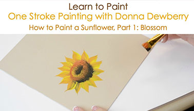 How to Paint a Sunflower, Pt. 1: Blossom
