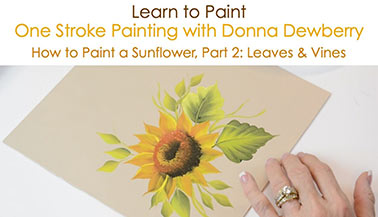 How to Paint a Sunflower, Pt. 2: Leaves and Vines