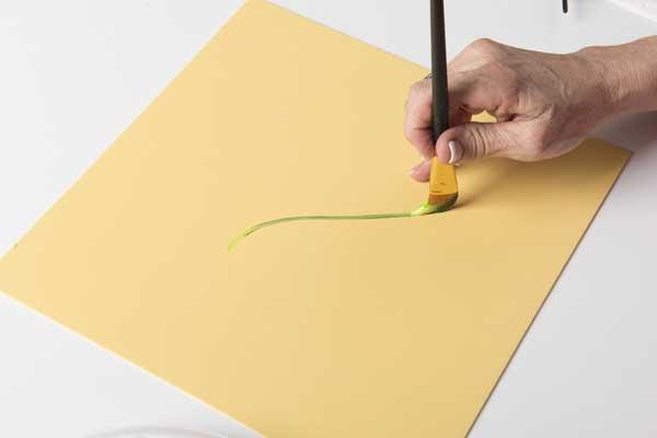 How to Paint Geranium Stems