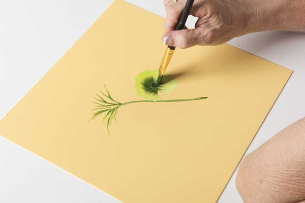 How to Paint Geranium Leaves