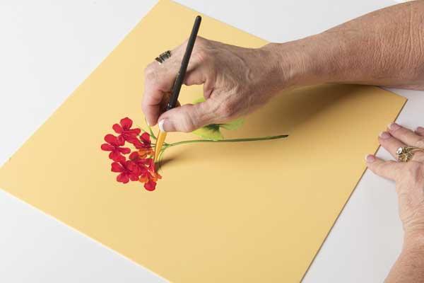 How to Paint Geranium Flower Petals