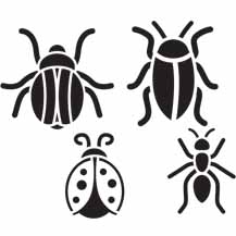 Cutesy Crawlies Printable Stencil