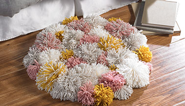 Sweet Dreams Pom-Pom Rug Rya-Tie Pattern