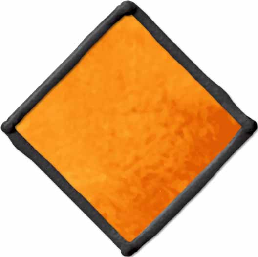 Gallery Glass ® Window Color™ - Pumpkin Orange, 2 oz. - 16429