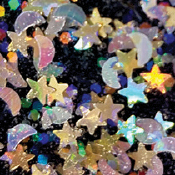 FolkArt ® Glitterific™ Icons Acrylic Paint - Stars and Moons, 2 oz. - 7167