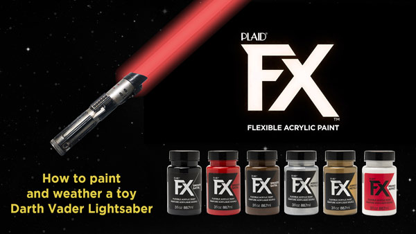 How to Paint and Weather a Toy Lightsaber