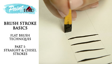 Brush Stroke Basics: Flat Brush Techniques pt. 1, Straight & Chisel Strokes