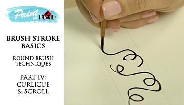 Brush Stroke Basics - Round Brush Techniques - Curlicues & Scrolls