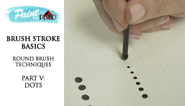 Brush Stroke Basics - Round Brush Techniques - Dots