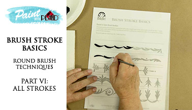 Brush Stroke Basics: Round Brush Techniques pt. 6, All Strokes