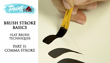Brush Stroke Basics: Flat Brush Techniques pt. 2, Comma Stroke