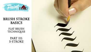 Brush Stroke Basics - Flat Brush Techniques - S Stroke