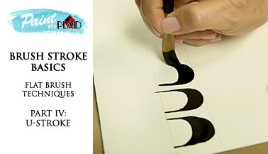 Brush Stroke Basics - Flat Brush Techniques - U Stroke