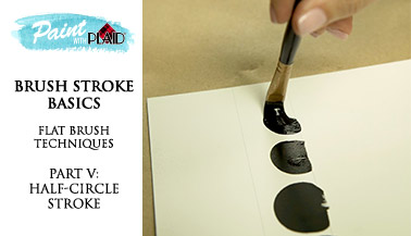 Brush Stroke Basics - Flat Brush Techniques - Half Circle Stroke