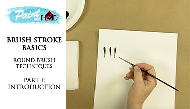 Brush Stroke Basics - Round Brush Techniques - Intro