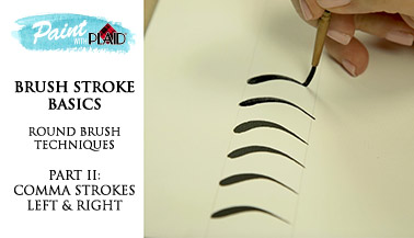 Brush Stroke Basics - Round Brush Techniques - Left & Right Comma Strokes