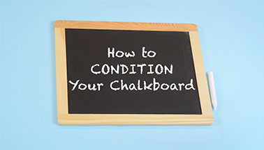 How to Condition a Plaid Chalkboard