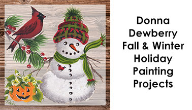 Donna Dewberry Fall & Winter Holiday Paint Projects