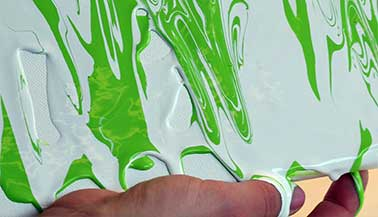 Create Your Own Acrylic Pouring Artwork with FolkArt Marbling Paint