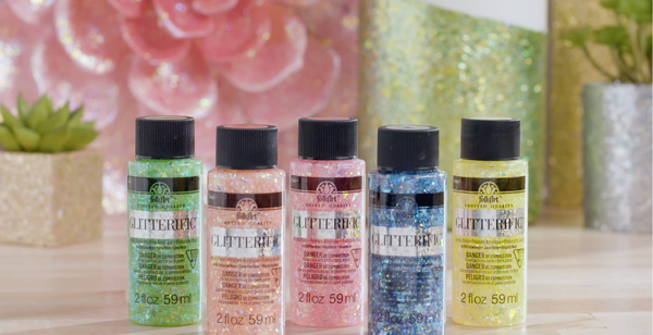 FolkArt Glitterific - add a sparkling topcoat to your next DIY!