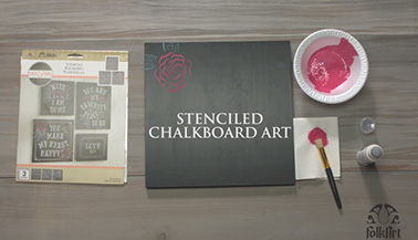Make Your Own Stenciled Chalkboard Art