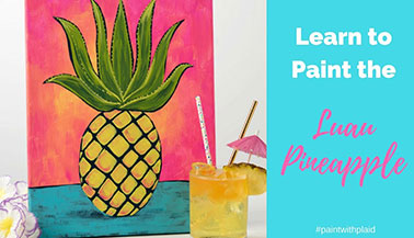 Paint with Luau Plaid Pineapple Tutorial