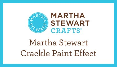 Martha Stewart Crackle Paint Effect