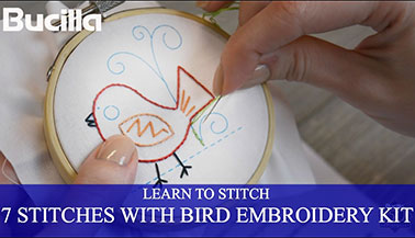 Learn 7 Embroidery Stitches with the Bucilla Learn to Stitch Embroidery Kit