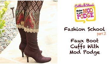 DIY Faux Boot Cuffs