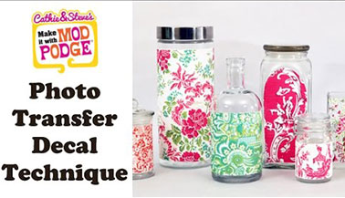 Mod Podge Photo Transfer Decal Tutorial