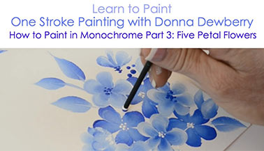 How to Paint in Monochrome, Pt. 3: Five Petal Flower