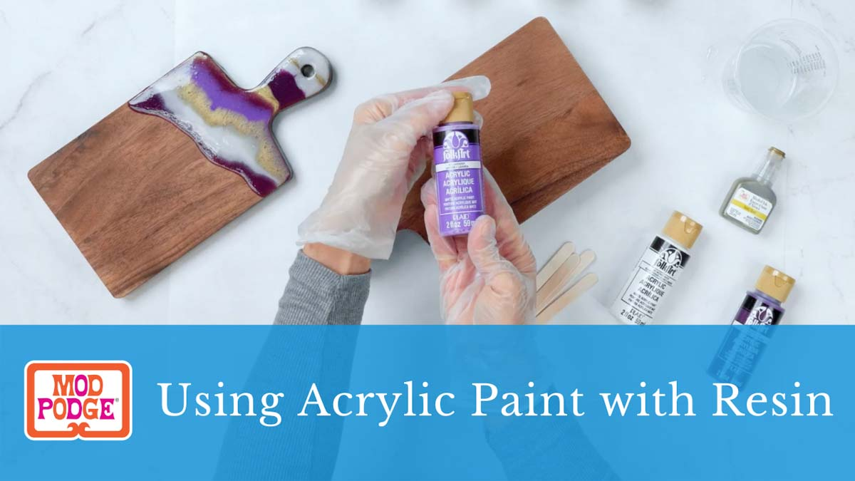 Using Acrylic Paint with Resin