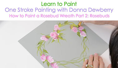 How to Paint a Rosebud Wreath, Pt. 2: Rosebuds