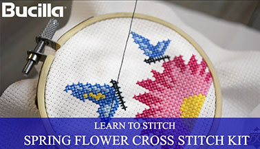 Learn Counted Cross Stitch with Bucilla Learn to Stitch Kit