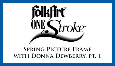 Spring Picture Frame with Donna Dewberry Pt. 1