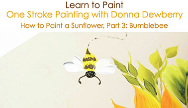 How to Paint a Sunflower, Pt. 3: Bumblebee