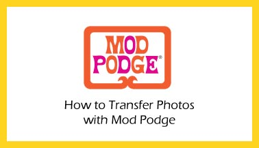 Transfer Photos with Mod Podge