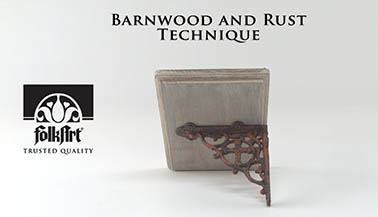 How to Create Your Own Faux Barnwood and Rust Finish