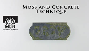Faux Finish Techniques: Realistic Moss & Concrete!