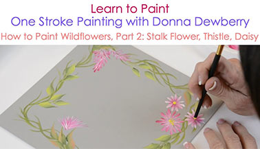 How to Paint Wildflowers, Pt. 2: Stalk, Thistle, and Daisy